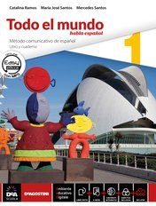 "Libro alumno 1 + Cuaderno 1 + Repasando todo 1 + Easy eBook (su DVD) + eBook + Suplemento Lengua (DELE e competenze) + eBook di narrativa ""Misterio en el Mallorca Gran Hotel"" di D. Villa Vázquez"